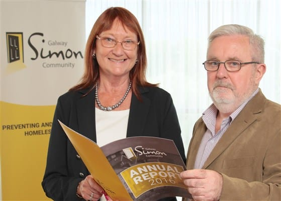 Maureen Lynch, Chairperson and Bill Griffin, CEO of Galway Simon