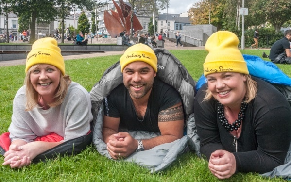 Sleep Out for Simon Launch Photo