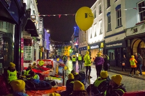 Galway Simon Sleep Out 2017 on Shop Street