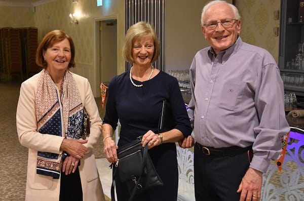 Ken O'Sullivan, author, with his wife, Carmel (centre,) and friend Maeve Brennan (left).
