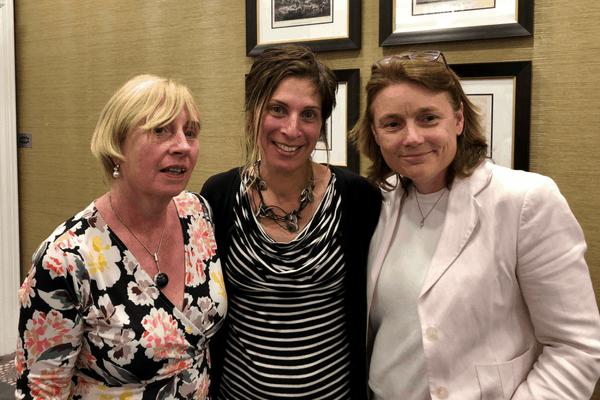 Senator Coletter Kelleher, Leilani Farha, UN Special Rapporteur for Adequate Housing and Karen Golden, CEO of Galway Simon Community