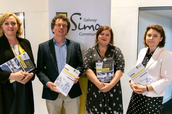 Joan Reinhardt, Galway Simon, Dr. Pádraig Mac Neela, NUIG, Niamh Randall, Simon Communities of Ireland, Karen Golden, CEO of Galway Simon Community V2
