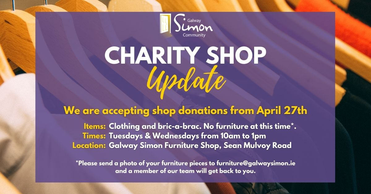 Charity Shop Donations_Galway Simon Community